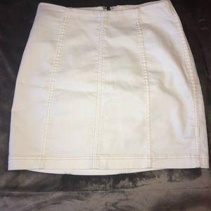 free people modern femme white skirt